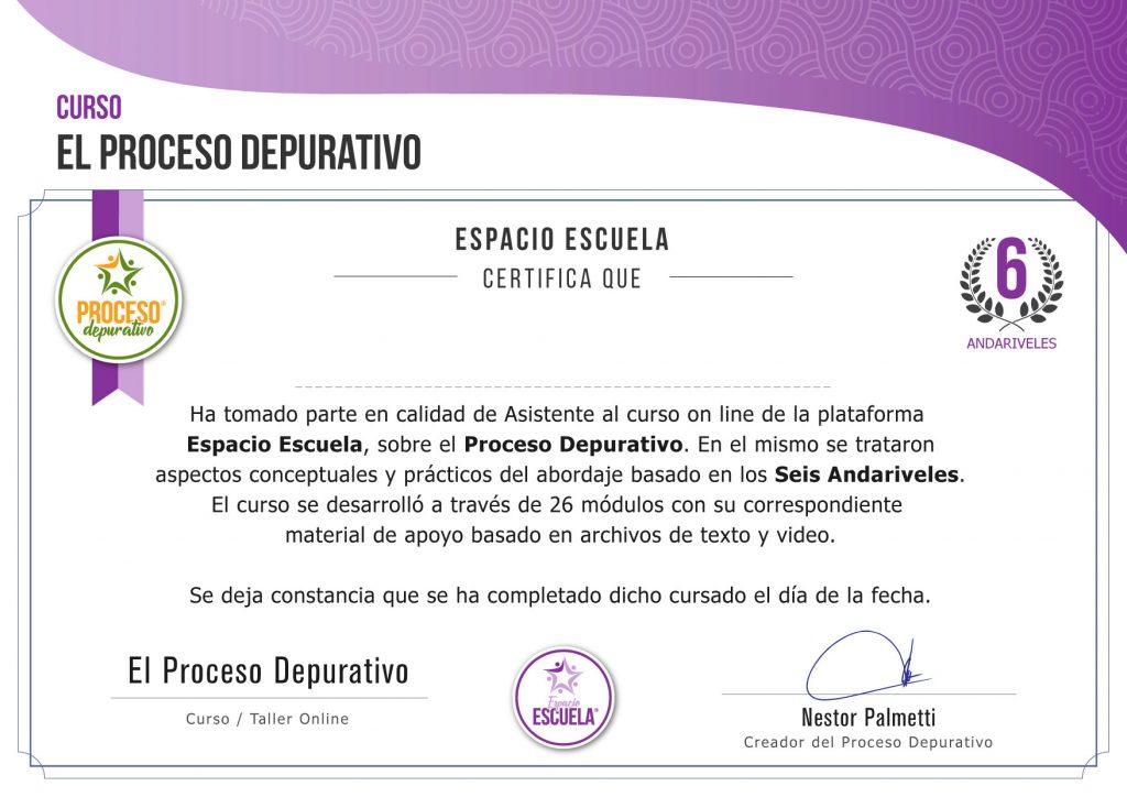 Certificado Proceso Depurativo
